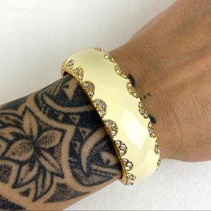 Stella & Dot Enamel & Rhinestone Cuff Bracelet